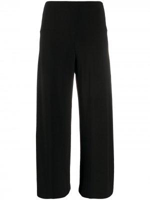 Укороченные брюки широкого кроя Norma Kamali. Цвет: черный