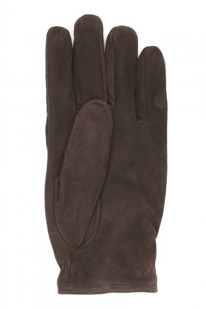 Перчатки из шерсти и замши Lardini. Цвет: синий