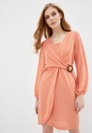 Платье Sisley. Цвет: коралловый