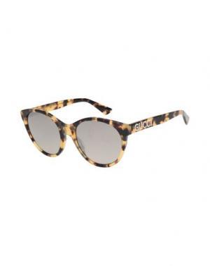 Солнечные очки GUCCI. Цвет: темно-коричневый