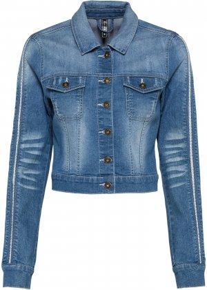 Джинсовая куртка bonprix. Цвет: синий