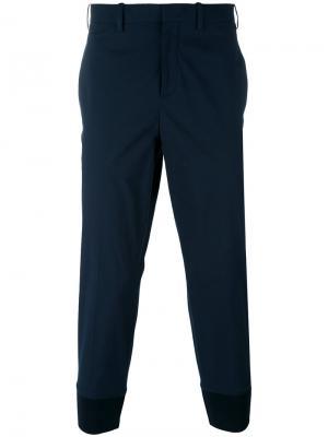 Классические брюки с заниженной проймой Neil Barrett. Цвет: синий