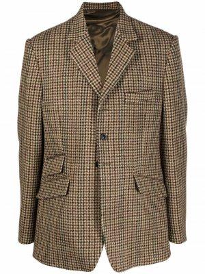 Двусторонний пиджак в ломаную клетку Maison Margiela. Цвет: нейтральные цвета