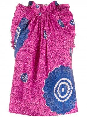 Блузка Tilda с принтом Ulla Johnson. Цвет: розовый