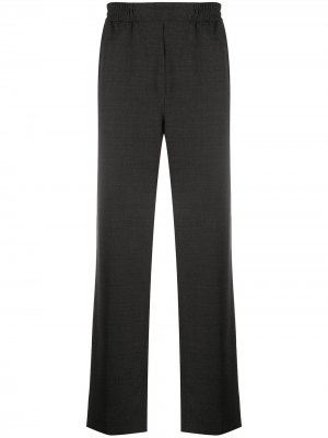 Прямые брюки с эластичным поясом Acne Studios. Цвет: серый