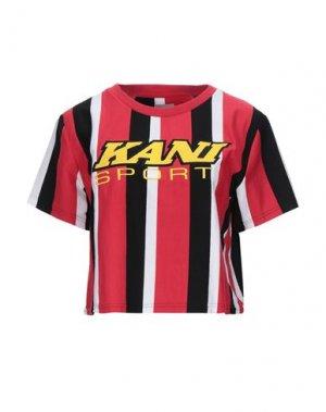 Футболка KARL KANI. Цвет: красный