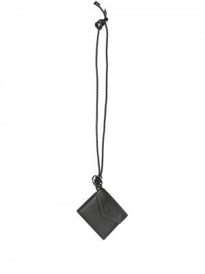 Кошелек со шнурком на шею Givenchy. Цвет: черный