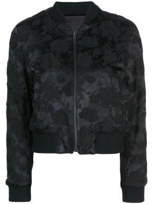 Куртка-бомбер со сплошным принтом Ann Demeulemeester. Цвет: черный