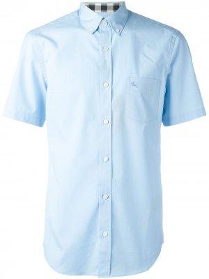 Классическая рубашка Burberry. Цвет: синий