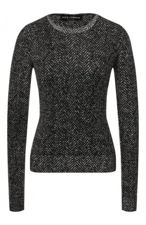 Шерстяной пуловер Dolce & Gabbana. Цвет: серый