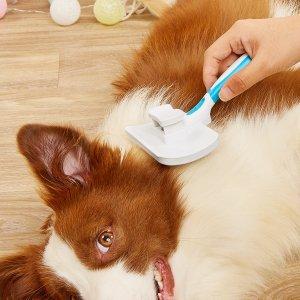 1шт Расческа для волос домашних животных SHEIN. Цвет: синий и белый