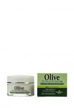 Крем для лица HerbOlive чувствительной и проблемной кожи (акне, угревая сыпь), 50 мл