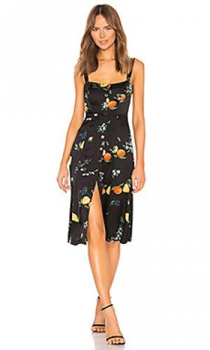 Платье миди sunny Capulet. Цвет: черный