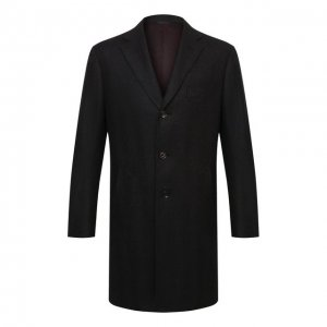 Шерстяное пальто Luciano Barbera. Цвет: коричневый