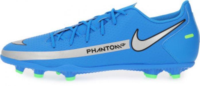Бутсы мужские Phantom GT Club FG/MG, размер 40 Nike. Цвет: синий