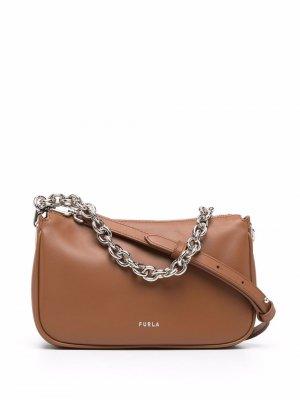 Маленькая сумка через плечо Moon Furla. Цвет: коричневый