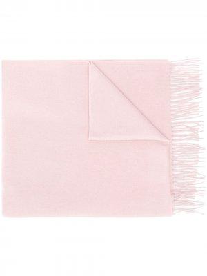Кашемировый шарф с бахромой Begg & Co. Цвет: розовый
