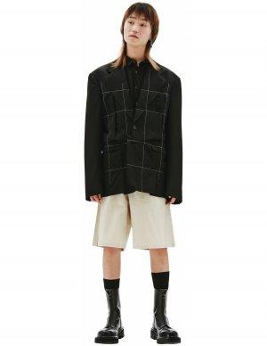 Черный пиджак из шерсти Comme des Garcons Homme plus