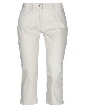 Джинсовые брюки-капри BARBARA LEBEK. Цвет: бежевый
