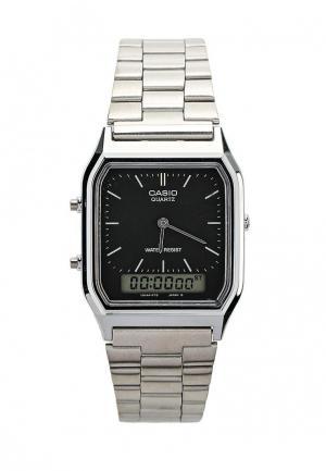 Часы Casio Collection AQ-230A-1D. Цвет: серебряный