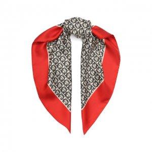 Шелковый платок Salvatore Ferragamo. Цвет: красный
