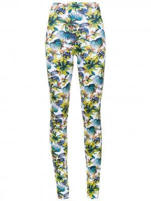 Printed leggings Amir Slama. Цвет: белый