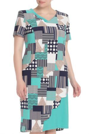 Платье CREDO. Цвет: бирюзовый