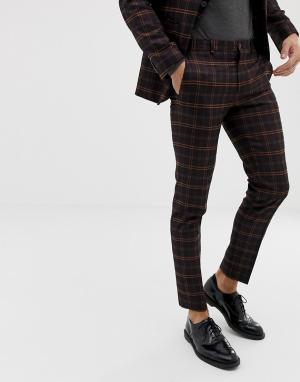 Облегающие брюки в клетку премиум-класса -Фиолетовый Jack & Jones