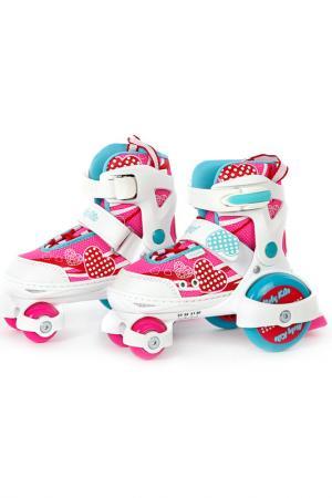 Роликовые коньки-квады Moby Kids. Цвет: розовый