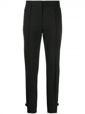 Зауженные брюки с D-образной пряжкой Escada. Цвет: черный