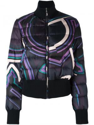 Дутая куртка бомбер Emilio Pucci. Цвет: синий