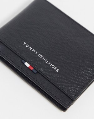 Кожаный бумажник -Черный Tommy Hilfiger