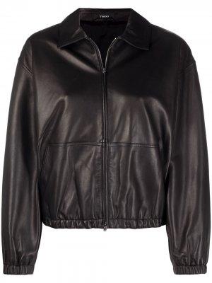 Куртка-бомбер Theory. Цвет: черный