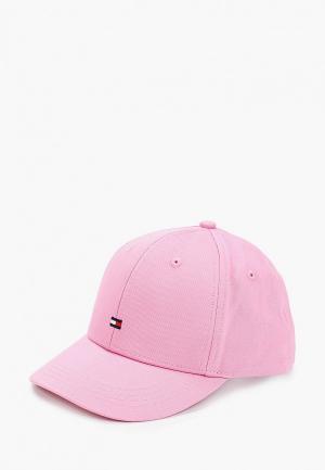 Бейсболка Tommy Hilfiger. Цвет: розовый