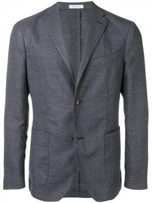 Пиджак кроя слим Boglioli. Цвет: синий