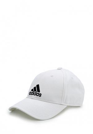 Бейсболка adidas 6P CAP COTTON. Цвет: белый
