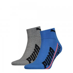 Носки Men Logo Quarter 2P PUMA. Цвет: синий
