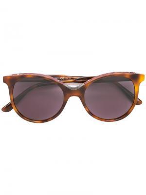 Солнцезащитные очки в квадратной оправе Bottega Veneta. Цвет: коричневый