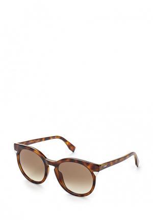 Очки солнцезащитные Fendi FE368DWHHE61. Цвет: коричневый