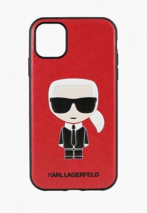 Чехол для iPhone Karl Lagerfeld 11, PU Leather Iconik Hard Red. Цвет: красный