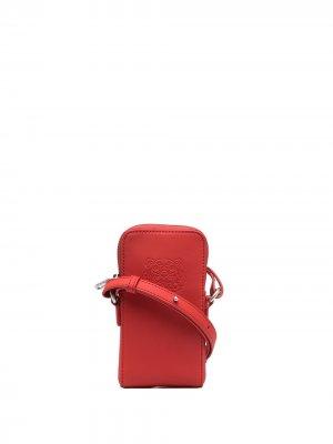 Сумка через плечо с тисненым логотипом Kenzo. Цвет: красный