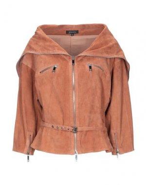 Куртка JITROIS. Цвет: желто-коричневый