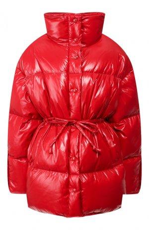 Пуховая куртка Acne Studios. Цвет: красный