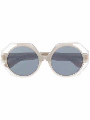 Солнцезащитные очки Occupant в круглой оправе Christian Roth. Цвет: серый