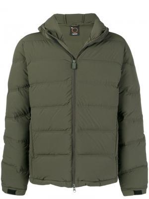 Пуховая куртка Aspesi. Цвет: зеленый