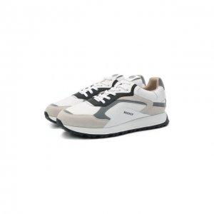 Комбинированные кроссовки Bogner. Цвет: серый
