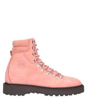 Полусапоги и высокие ботинки DIEMME. Цвет: пастельно-розовый