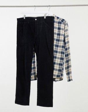 Вельветовые брюки графитового цвета Levis 502-Синий Levi's
