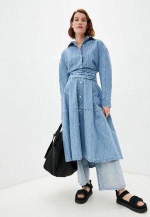 Платье джинсовое Marni. Цвет: голубой