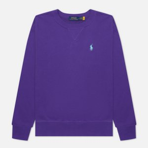 Женская толстовка Polo Pony Mini Logo Featherweight Fleece Ralph Lauren. Цвет: фиолетовый